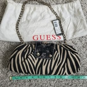 Guess purse zebra print New with Tags